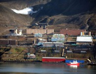 Delivery of machinery and equipment on the island of Spitsbergen